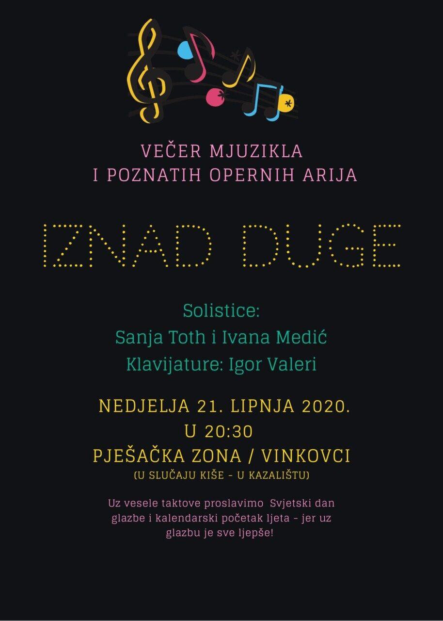"""Glazbena večer """"IZNAD DUGE"""""""