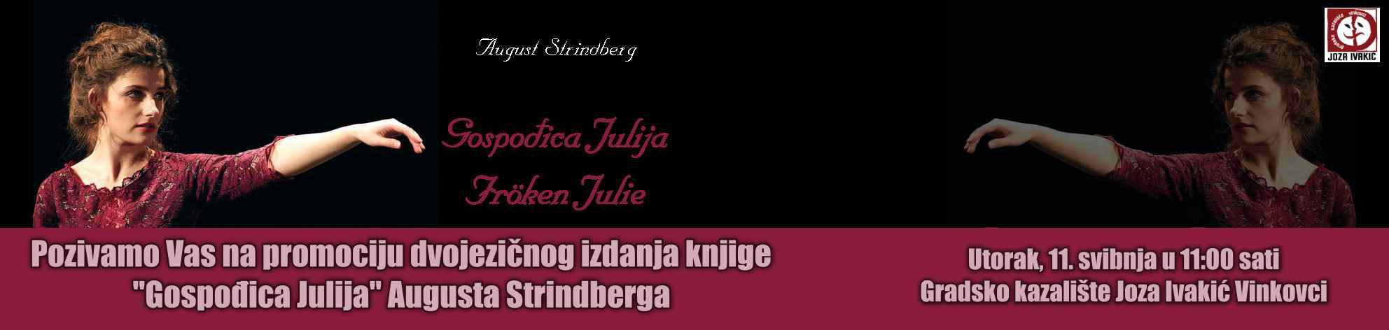 Gospođica Julija, promocija